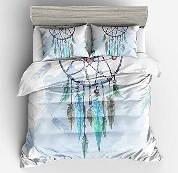 Juego de cama de 3 piezas Funda nórdica de 1 pieza con funda de almohada de 2 piezas,Single(180x220cm,3pcs): Amazon.es: Hogar
