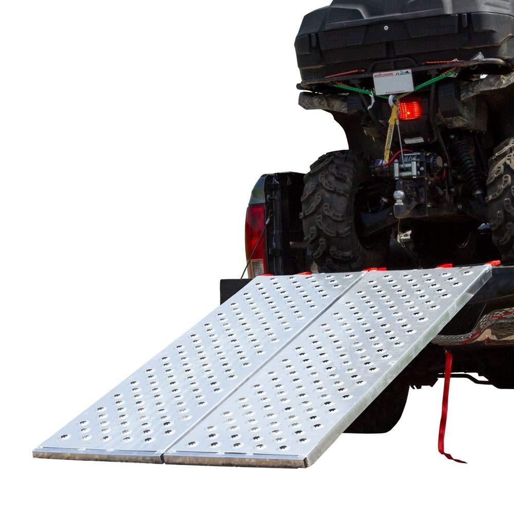 "Folds in Half BFP-7044 Weight Capacity 1,500 lb Black Widow Bi ATV Ramp Measures 5/' 10/"" Long x 44/"" Wide"