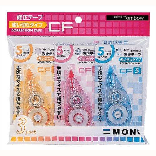 トンボ鉛筆 修正テープ MONO CF5C 3色 KCA-321