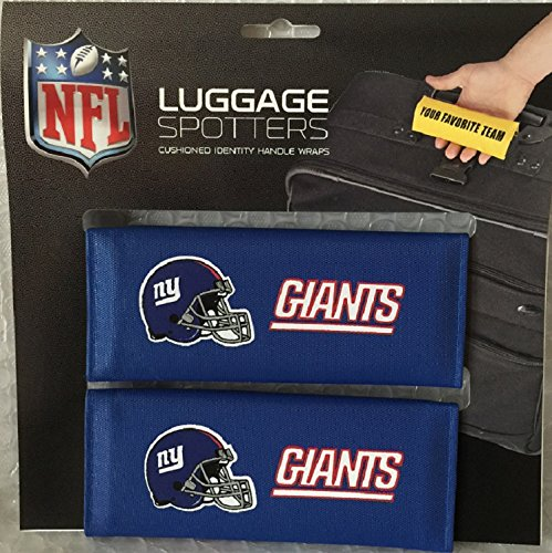 Luggage Spotter BUY ONE GET ONE FREE! 4-PACK NY GIANTS (Blue) Handle Grip/Travel Bag Tag/Handle Wrap – CLOSEOUT! THEY ARE SELLING OUT FAST! by Luggage Spotter
