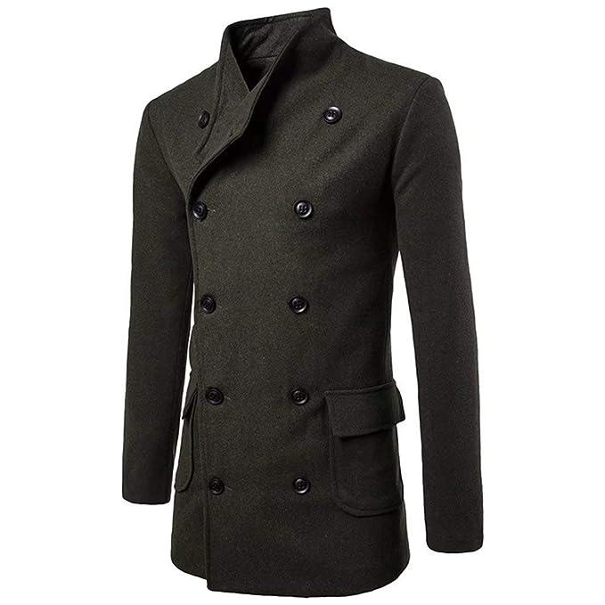 13028784aab2 Herren Seemannsjacke Zweireiher Mantel Wolle PEA Mischung Coat Jungen Kurz  Fashion Tweed Jacke Dufflecoat Cabanjacke  Amazon.de  Bekleidung
