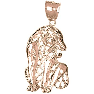 Amazon 14k rose gold lion pendant 51 mm jewelry 14k rose gold lion pendant 51 mm aloadofball Choice Image