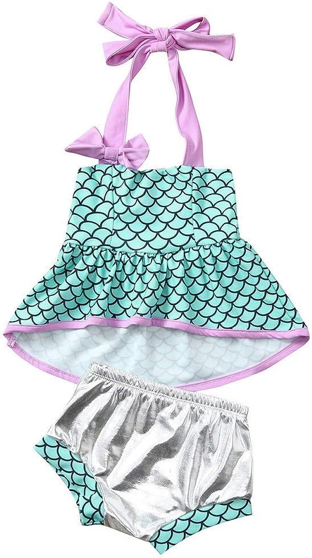 CCIKun - Conjunto de Bikini para niña, Traje de baño de Sirena ...