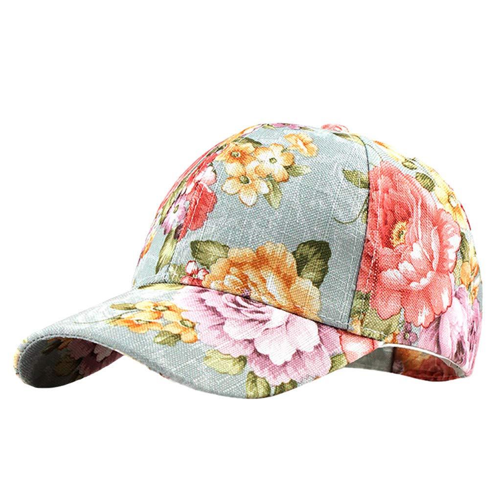 Floral Print Baseball Cap Adjustable 100/% Cotton Dad Hat Hats for Women Mens