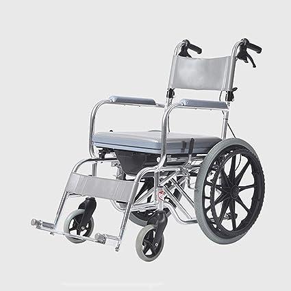 Amazon.com: YUNFEILIU - Silla de ruedas plegable (aleación ...