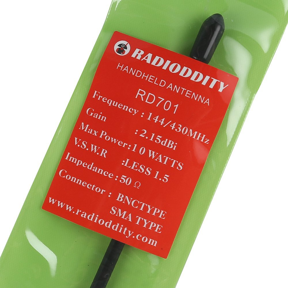 Radioddity RD-701 8 Inch Whip VHF/UHF 144/430MHz Dual Band High Gain Antenna, SMA-Female, for BaoFeng, TYT, WouXun, Yaesu and Kenwood Handhelds, Better than Nagoya NA-701, Black by Radioddity (Image #6)