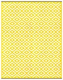 8 x 10 outdoor rug - Green Decore Lightweight Outdoor Reversible Plastic Nirvana Rug (8 x 10, Yellow/White)
