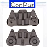 ConPus 2 Packs W10195416(Upgraded) Lower Dishwasher Wheel Part Assembly Replacement for Maytag/Kitchen Aid/kitchenaid/Whirlpool/Kenmore Dish Rack Replaces AP5983730, W10195416V, PS11722152