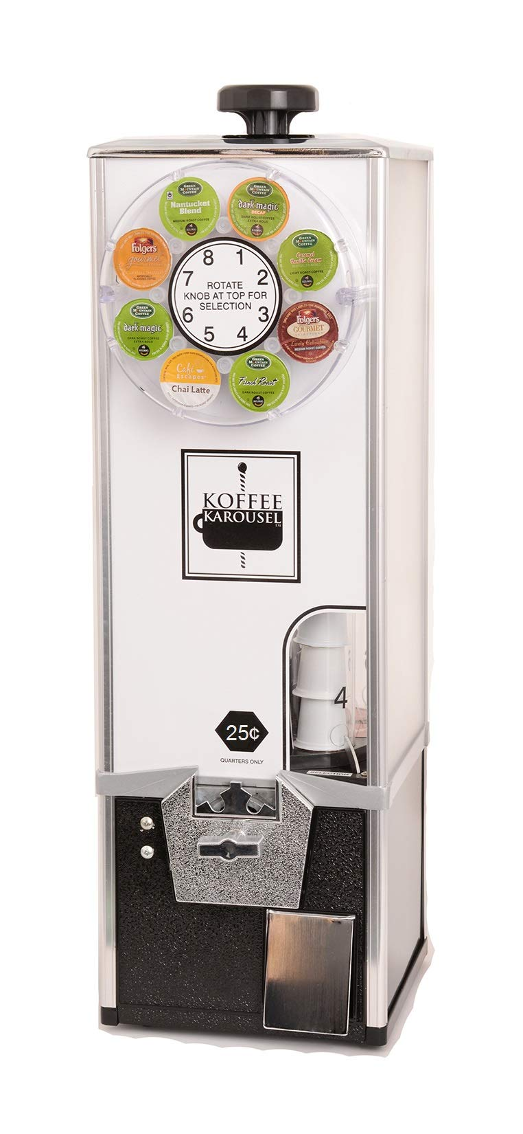 KK Mfg Koffee Karousel K-Cup Vending Machine (1-Quarter Coin Mechanism)