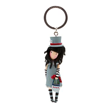 Gorjuss Llavero muñeca The Hatter, Color Azul (82076619820 ...
