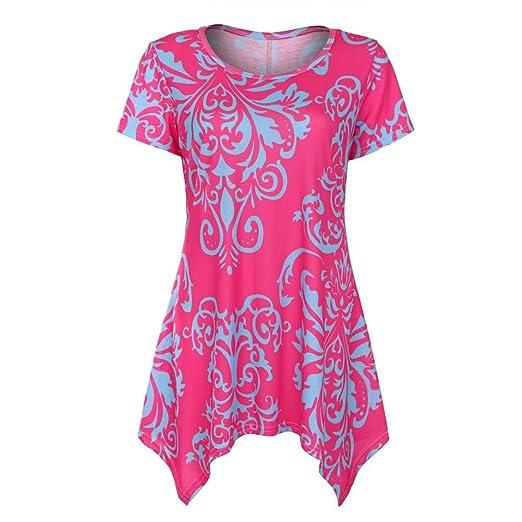 Verano Camisetas De Mujer 💝 Yesmile Blusa Holgada Asimétrica Ocasional Sin Mangas de Las Mujeres de