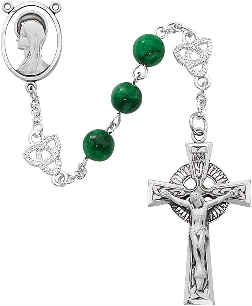 Bonyak Jewelry Genuine Mother of Pearl Rosary Boxed