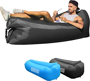 KXLY Inflatable Lounger Air Sofa - Portable Inflatable Couch Anti- Air Leaking Beach Inflatable Lounger for Camping Picnics Hiking Beach Music Festivals