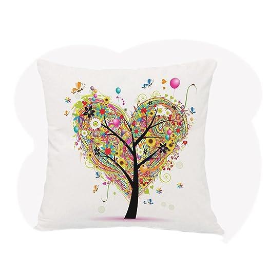 acge® Funda de cojín para colorear el árbol árbol de la vida ...