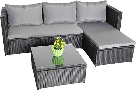 Jet-Line - Sofá de jardín para Montar en casa, Color Negro y Gris: Amazon.es: Jardín