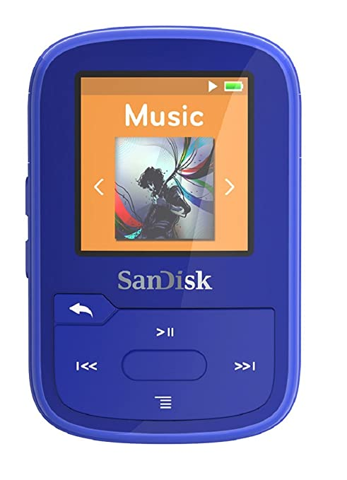 27 opinioni per SanDisk Clip Sport Plus 16GB, Lettore MP3, Blu