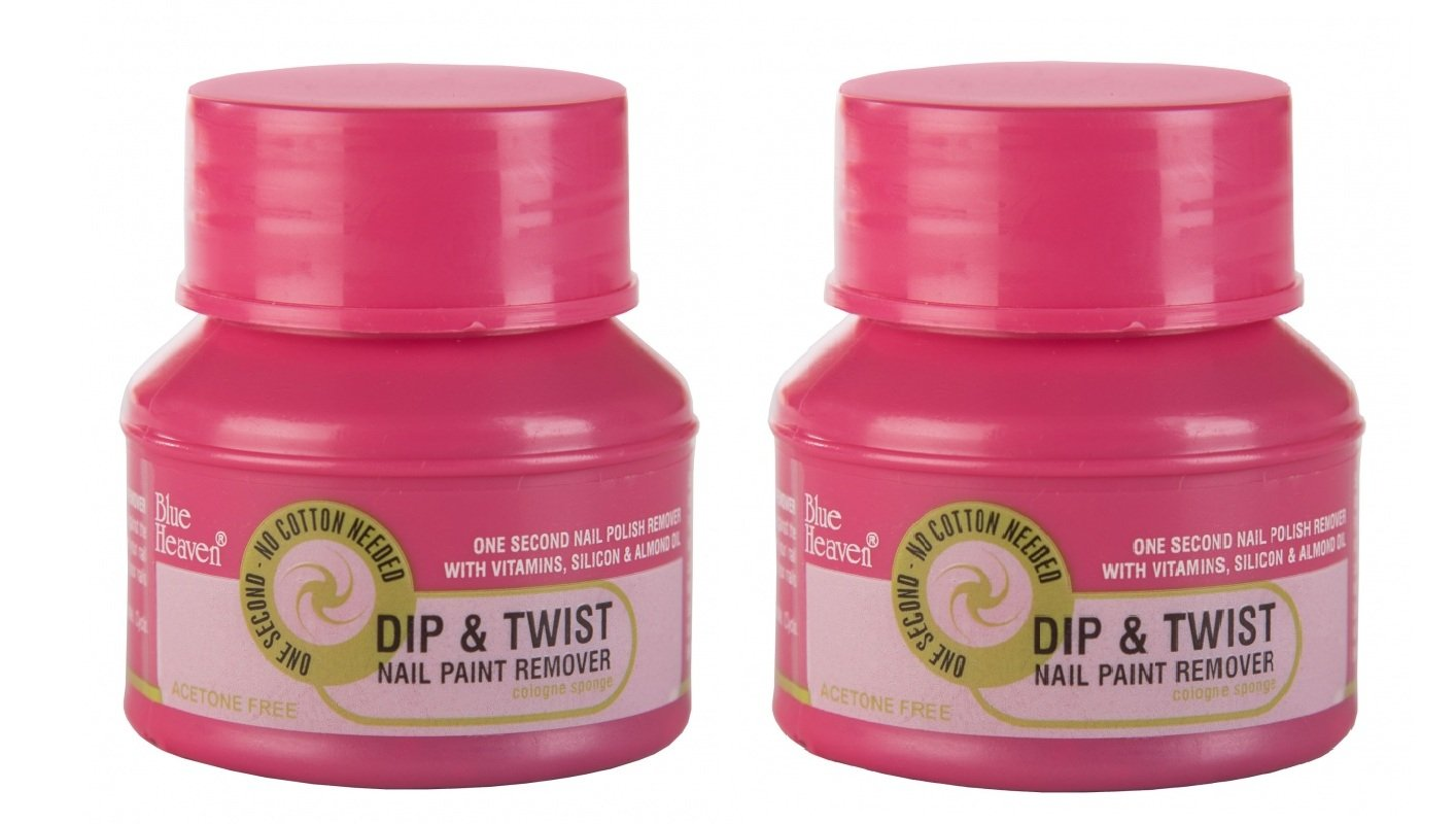 Buy Blue Heaven Dip & Twist Nail Paint Remover, 40ml/PC, ( PACK OF 2 ...