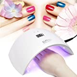 Lampada LED Unghie Fornetto Unghie Nail Dryer 36W 18 UV LED Professionale per Manicure con USB (Bianco) - Duomishu