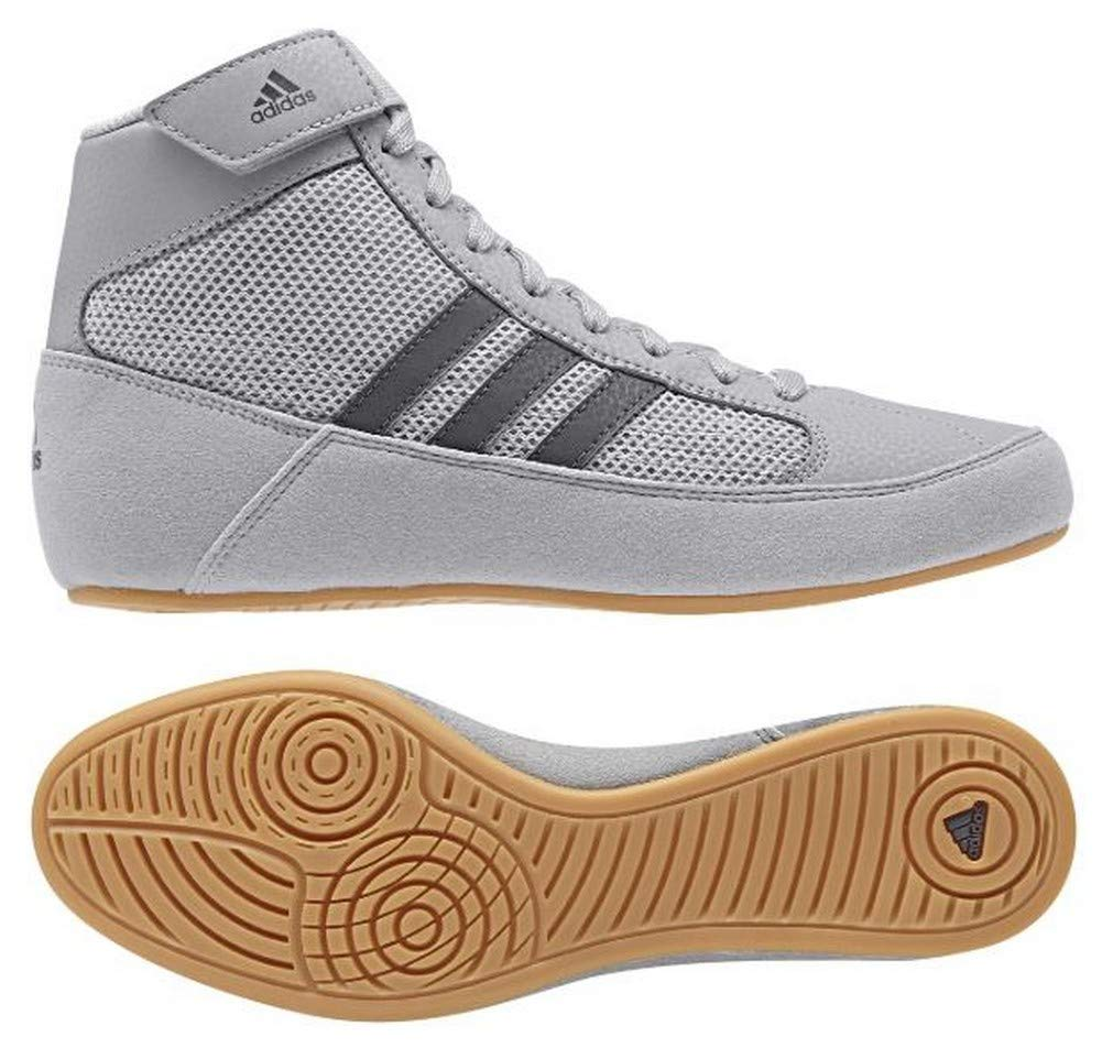 adidas Hvc2 Youth Light Onyx Dark Onyx Wrestling Shoes Onyx 1.5