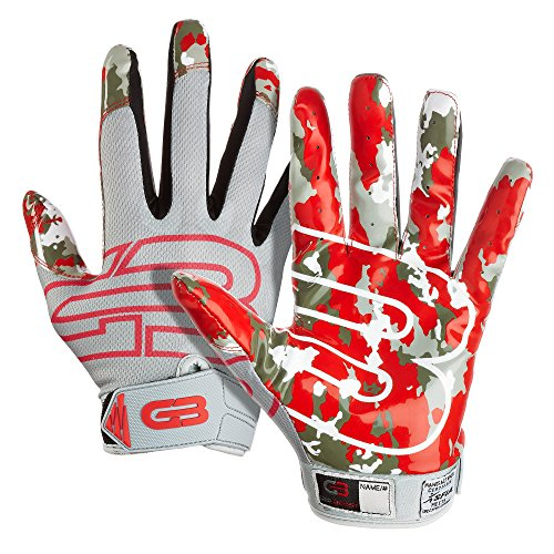 Grip Boost Stealth Football Gloves Pro Elite (Red, Youth Small)