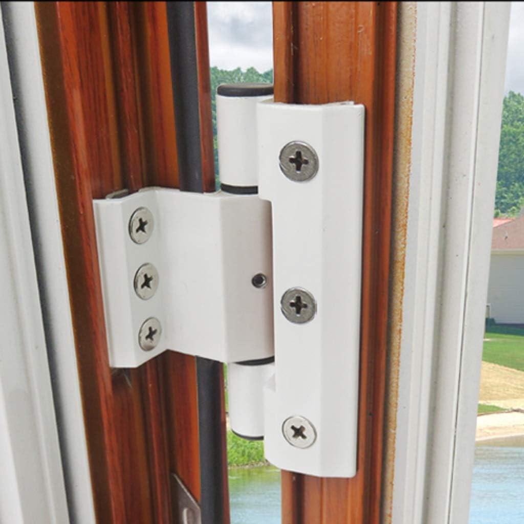 Color : Black, Size : 4pcs KQHSM 2 Pack Aluminum Alloy Door /& Window Hinge Breaking Bridge Heat Insulation Swing Window Hinge Door /& Window Hardware