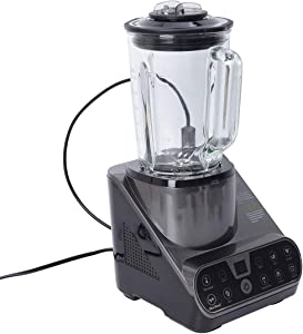 High Speed 6 Blade Multifunction Vacuum Blender 1.5L 25000RPM 800W with 800ml Vacuum Bottle- Gray