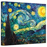 Art Wall Starry Night by Vincent Van Gogh Gallery Wrapped Canvas Art, 36 by 48-Inch