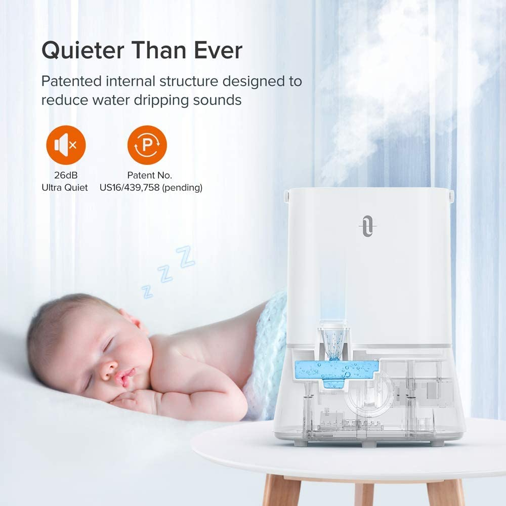 4L Cool Mist Humidifier for Home Baby Bedroom Classic Dial Knob Control - 360/° Rotatable Mist Outlets 4.0L // 1.06Gal, US 110V White TaoTronics TT-AH024 Ultrasonic Humidifiers Humidifiers