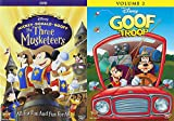 Donald Mickey & Goofy Disney Characters Collection - Mickey, Donald, Goofy The Three Musketeers + Goof Troop: Volume 2 (27 Total Episodes / 1 Feature Film DVD Bundle)