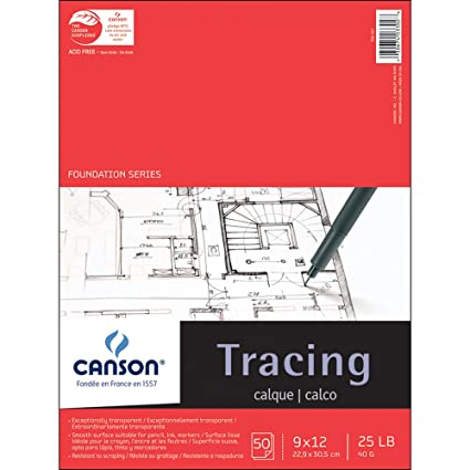 Amazon canson 702 321 pro art 9 inch by 12 inch tracing paper canson 702 321 pro art 9 inch by 12 inch tracing paper malvernweather Images