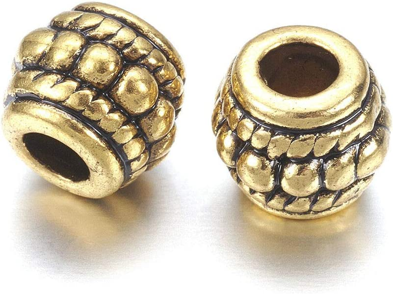 1-6mm Pandahall 100pcs Tibetan Style Cone Caps 18x8x8mm Antique Bronze Metal End Cords Cadmium Free /& Lead Free /& Nickel Free for Jewelry Making Hole
