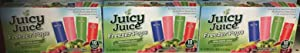 Juicy Juice Freezer Pops Berry,Kiwi,Apple & Fruit Punch With Naturally Flavored 10 in Each - Pack Of 3