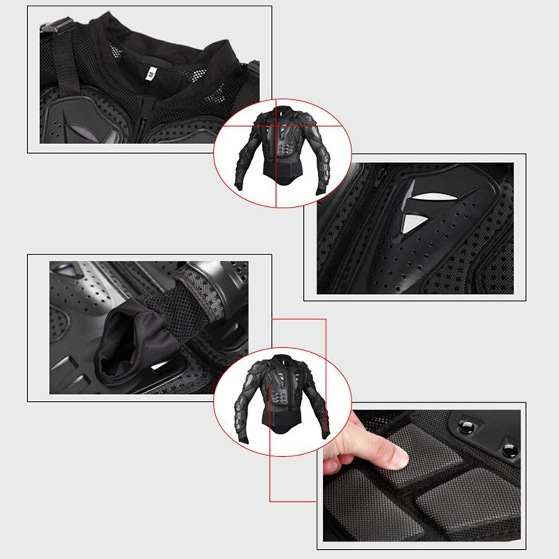 Chaqueta de Protecci/ón para Motocross Coraza Protectora para Cuerpo Profesional de Motocicleta Transpirable C/ómodo al Aire Libre Negro Rojo M Xianheng Chaqueta de Moto