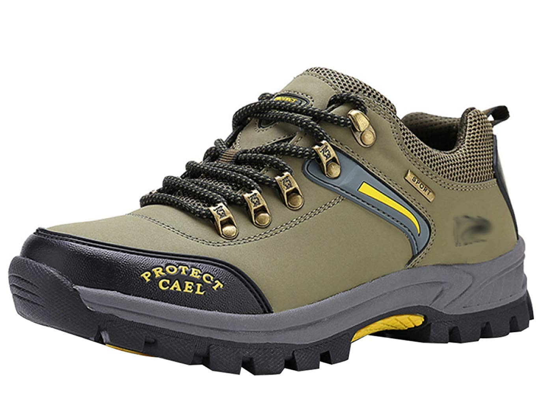 HhGold Männer Wanderschuhe Stiefel Leder Wanderschuhe Turnschuhe Für Outdoor Trekking Training Beiläufige Arbeit (Farbe : 26, Größe : 42EU)