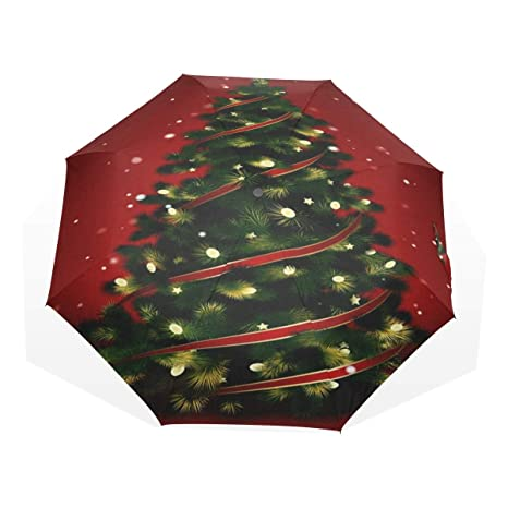 umbrella christmas tree star nauto open umbrella waterproof lightweight anti uv sun rain umbrella folding - Umbrella Christmas Tree