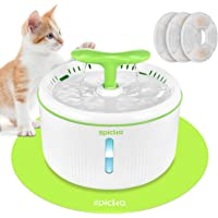 EPICKA Sprout Pet Fountain, 2L/67oz Cat Water Fountain with LED Indicator, Quiet Pump, 3 Triple-Action Filters and 1…
