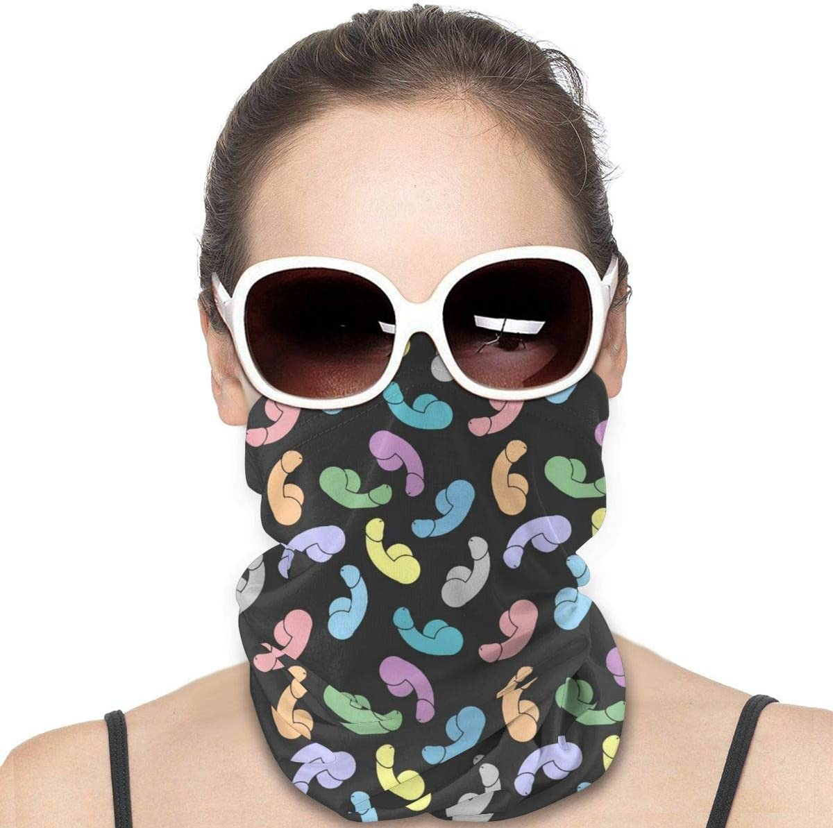 UPF 50 HomeLEE Sunset Mountains Night Unisex Full-Coverage Tube Face Mask Bandanas UV Protection Neck Gaiter Headband Fabric