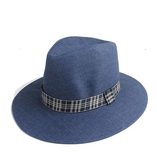 2019 Moda Sombrero de Sol Paja de Verano Color Sólido Ancho Paño ...