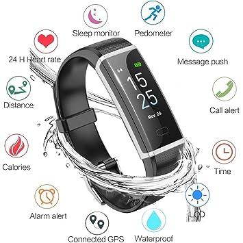 LIGE Montre Connectée Bracelet Connecté Podometre Cardio Homme Femme Enfant Smart Watch Android iOS Etanche IP68