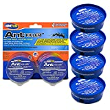 Home Plus Ant Killer (4-Pack), Metal Ant Traps Indoor & Outdoor, Ant Bait Station, Effective Ant Control System, 4 Cans Ant Bait Traps, Ant Traps w/Food-Based Attractants, Pesticide-Free Ant Baits