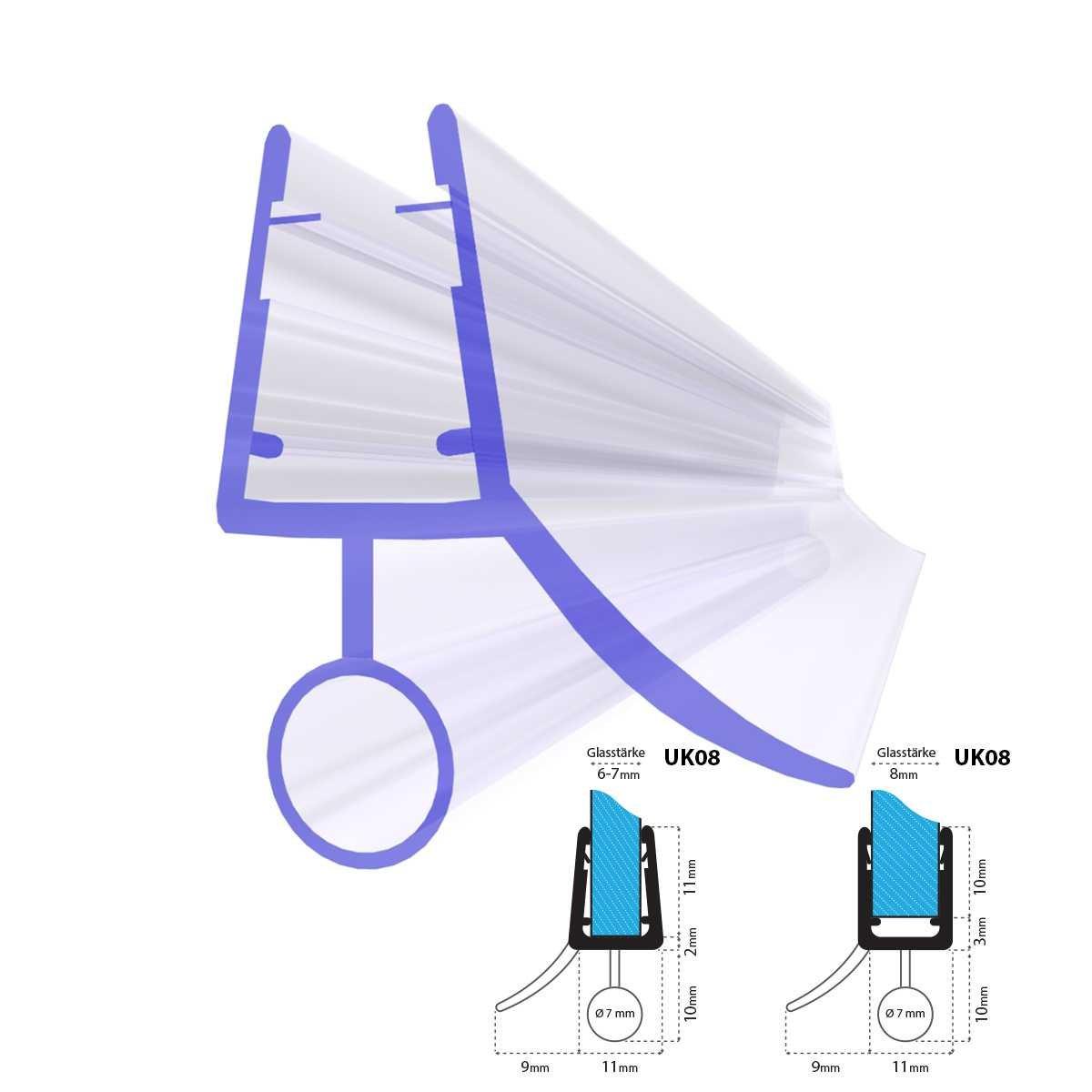 90 Cm UK08 - joint de rechange pour 6 mm/7 mm/8 mm verre d'é paisseur dé flecteur d'eau de douche de phoques Jumbo Shop 49527056