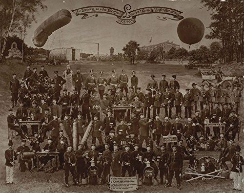 Buy cheap the museum outlet unknown photographer souvenir service second municipal balloon battalion stretched canvas gallery wrapped