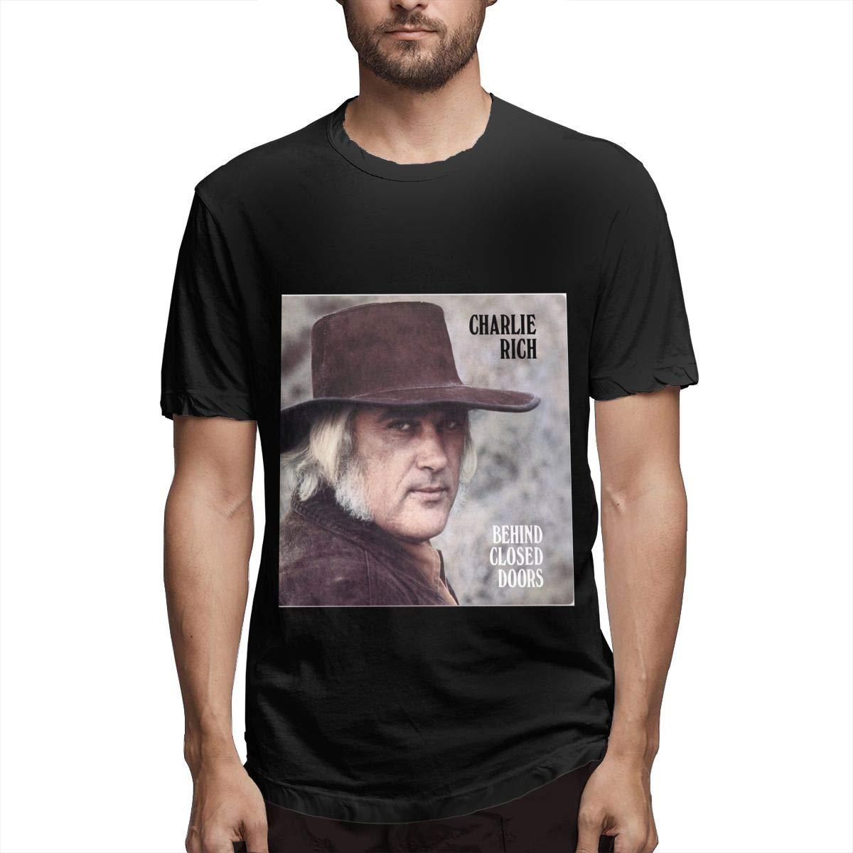 Lihehen Mans Charlie Rich Round Neck Ts Shirts