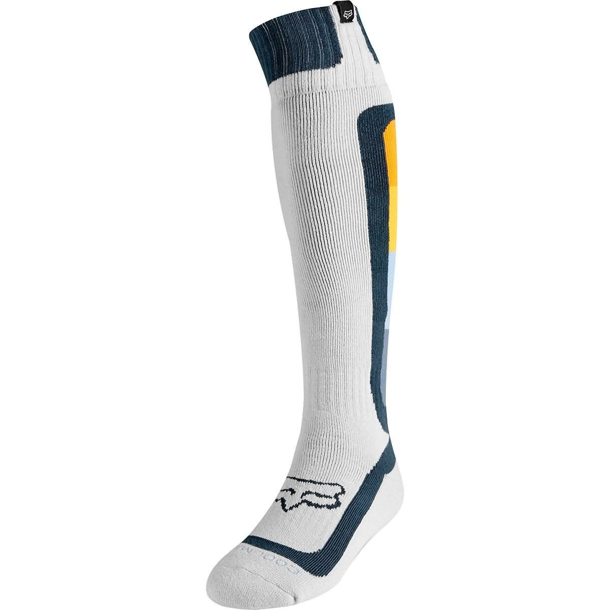 Fox Racing 2019 Coolmax Thin Socks - Murc (LARGE) (LIGHT GREY)