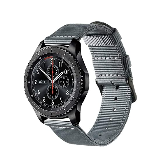 Jewh Waterproof Colorful Nylon Strap Samsung Gear S3 Band Frontier Strap Gear S3 Classic Watchband 22mm