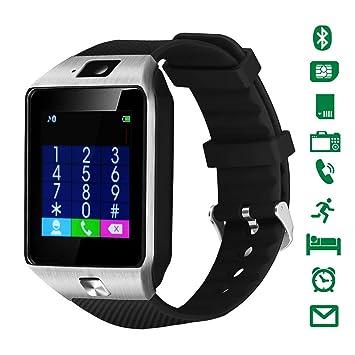 Smartwatch,CHEREEKI Reloj Inteligente Android con Ranura para Tarjeta SIM o Via Bluetooth, Pantalla tactil de 1.56