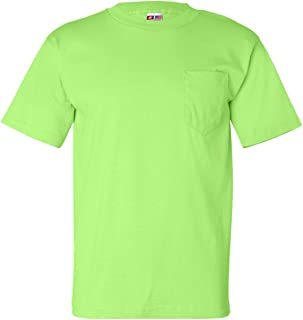 product image for Bayside Adult Classic Style Heavyweight Pocket T-Shirt