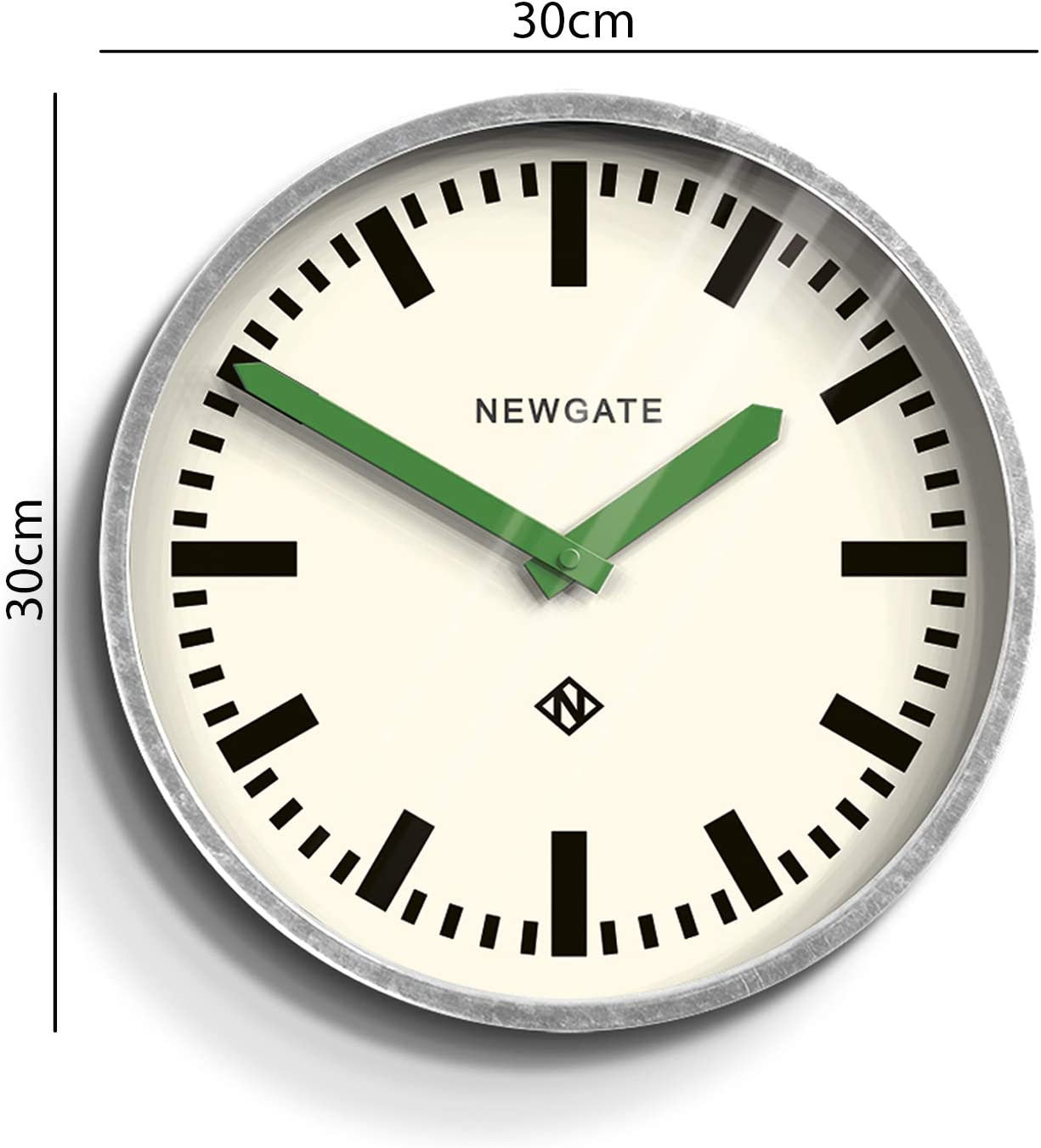 Newgate The Luggage Metal Wall Clock Green Amazon Co Uk Kitchen Home