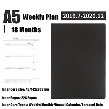 Amazon.com: Dart3089 Weekly Monthly Planner A5 Planner ...