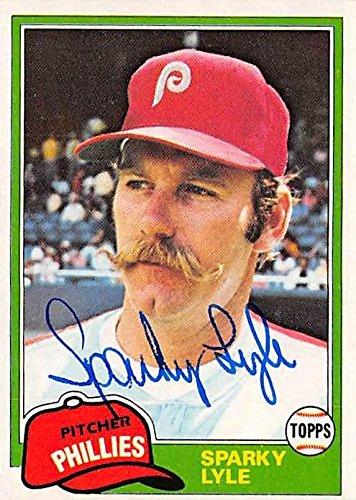 Sparky Lyle autographed baseball card (Philadelphia Phillies) 1981 Topps #719 - Baseball Slabbed Autographed Cards
